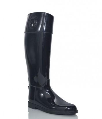 Высокие резиновые сапоги Armani Jeans черные
