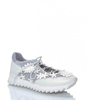 Легкие летные кроссовки 181 by Alberto Gozzi с открытым верхом серо-белые