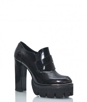 Кожаные ботильоны Nando Muzi на высоком каблуке черные