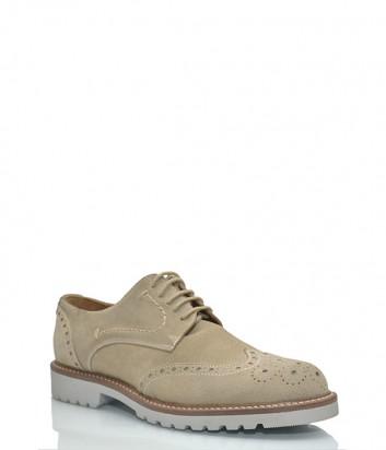 Мужские замшевые туфли Loriblu бежевые