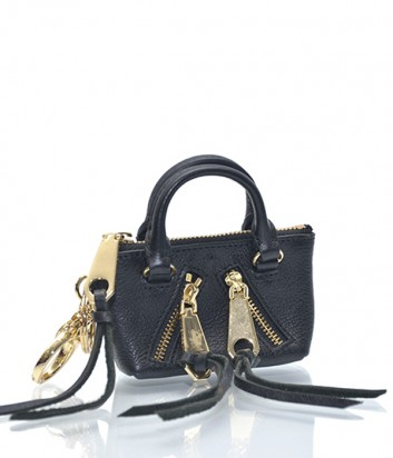 Брелок для ключей-монетница Rebecca Minkoff в виде сумочки MOTO черный