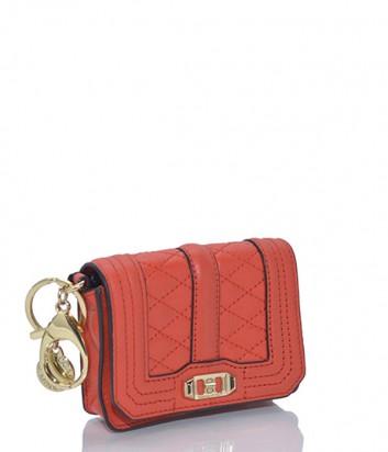 Брелок для ключей-монетница Rebecca Minkoff в виде сумочки LOVE красный