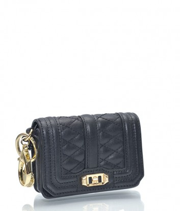 Брелок для ключей-монетница Rebecca Minkoff в виде сумочки LOVE черный