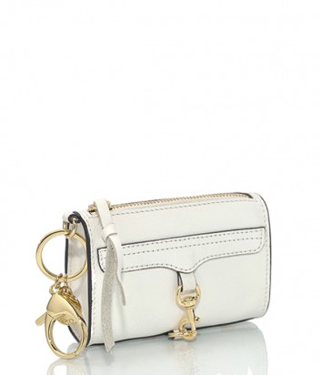 Брелок для ключей-монетница Rebecca Minkoff в виде сумочки MAC белый