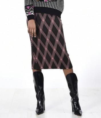 Трикотажная юбка-миди PINKO с геометрическим принтом