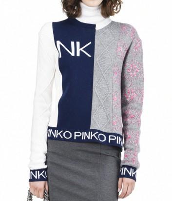 Женский джемпер с лого PINKO комбинированный