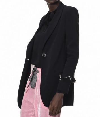 Роскошный пиджак PINKO с рюшами на рукавах черный