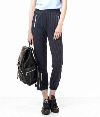 Укороченные брюки PINKO с мелкую полоску
