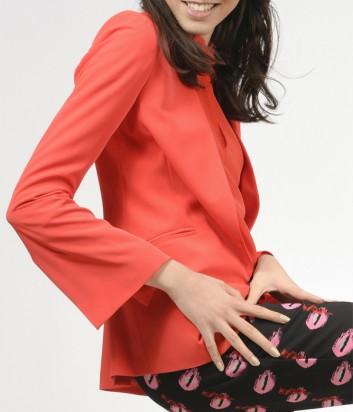 Женский пиджак PINKO с расклешенным рукавом красный