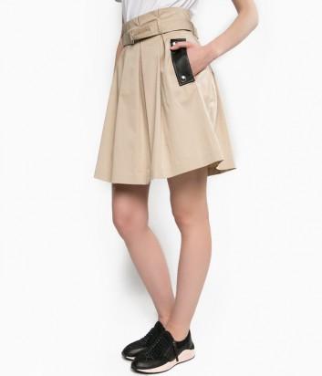 Расклешенная юбка PINKO с карманами бежевая