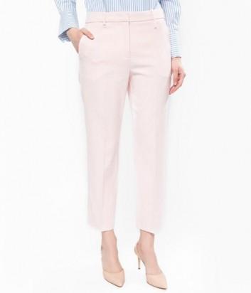 Классические укороченные брюки PINKO со стрелками цвета пудры