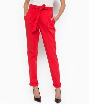 Женские брюки PINKO со стрелками красные