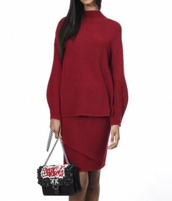 Теплый трикотажный костюм PINKO свитер и юбка