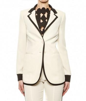 Кремовый пиджак PINKO с черным кантом