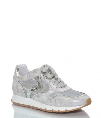 Кожаны кроссовки Voile Blanche 2012438 серебристые