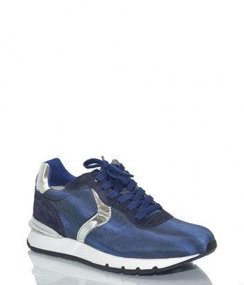 Комбинированные женские кроссовки Voile Blanche 2012383 синие