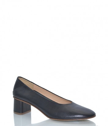 Кожаные туфли Fabio Rusconi 3628 с загибающимся задником черные