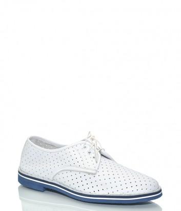 Кожаные туфли Baldinini 795822 с перфорацией белые