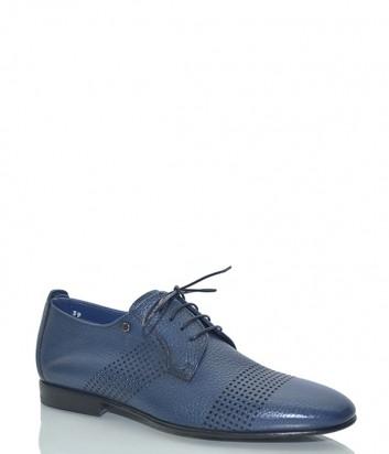 Кожаные туфли Mario Bruni 60817 с перфорацией синие