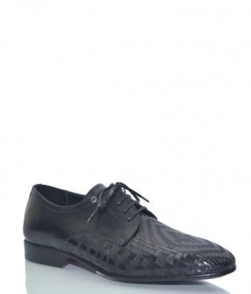 Кожаные туфли Mario Bruni 60872 с текстурным узором черные