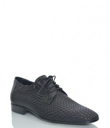 Кожаные туфли Mario Bruni 60926 с эффектом плетения черные