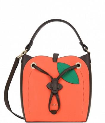 Кожаная сумка Furla Dolcezza 941431 в виде манго