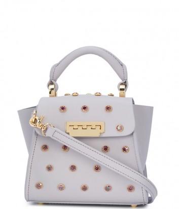 Маленькая сумка Zac Zac Posen Eartha Iconic декорированная кристаллами лиловая