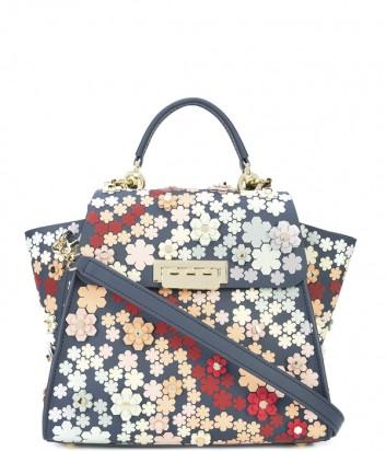 Сумка-рюкзак Zac Zac Posen Eartha с яркой цветочной аппликацией синий