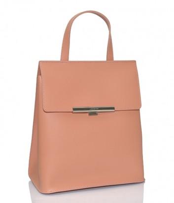 Сумка-рюкзак Lancaster Lily в гладкой коже коралловая