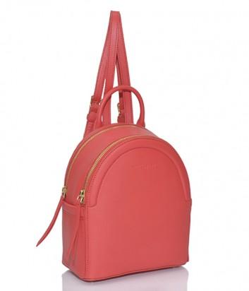 Кожаный рюкзак Lancaster Vera на два отделения красный