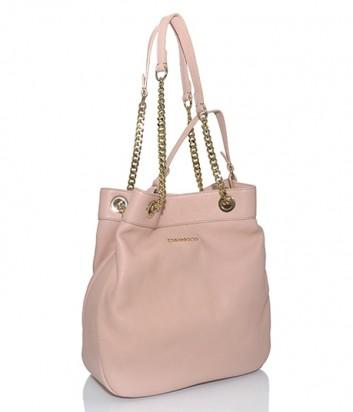 Кожаная сумка-мешок Di Gregorio 774L нежно-розовая