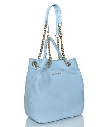 Кожаная сумка-мешок Di Gregorio 774L нежно-голубая