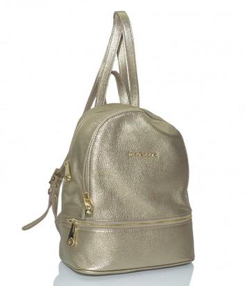 Кожаный рюкзак Di Gregorio 8509 золотой