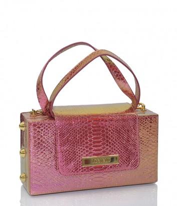 Маленькая сумочка Loriblu E7B.0661 из красной кожи с золотым отливом