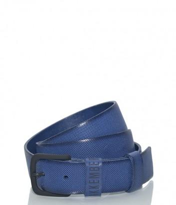 Мужской кожаный ремень Dirk Bikkembergs BD1851 синий