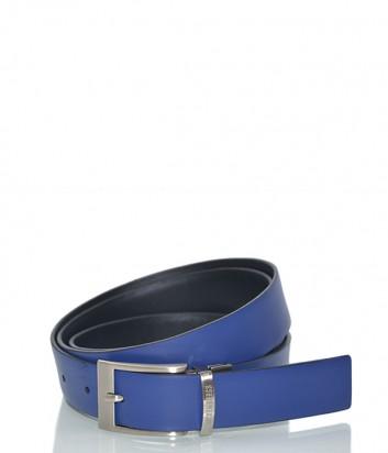 Мужской кожаный ремень Dirk Bikkembergs BD1806 синий