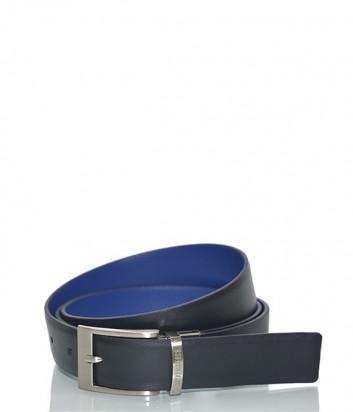 Двухсторонний кожаный ремень Dirk Bikkembergs BD1806 черный с синим