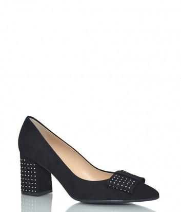 Замшевые туфли Fabio Di Luna 6614 черные