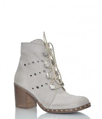 Кожаные ботинки Ermans 640 серые