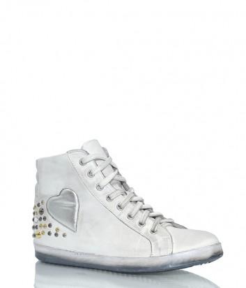Кожаные ботинки Ermans 92883 белые