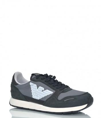 Мужские кроссовки Emporio Armani 533 черные