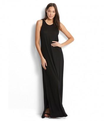 Длинное платье Seafolly 53227-DR черное