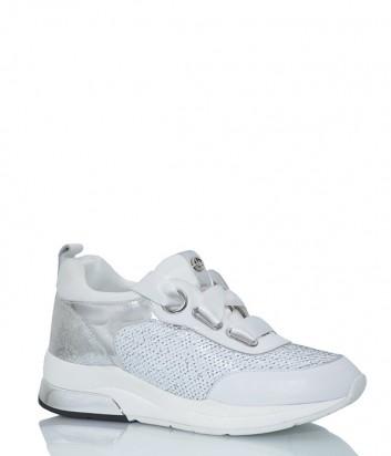 Женские кроссовки Liu Jo B18013 с пайетками белые