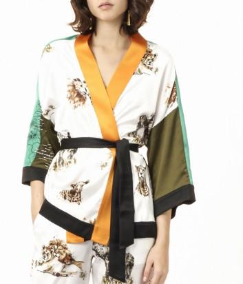 Яркое кимоно PINKO с принтом сафари
