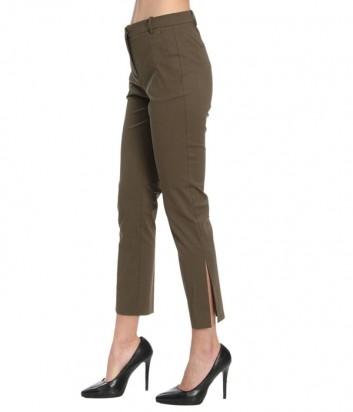 Классические женские брюки PINKO укороченные цвета хаки
