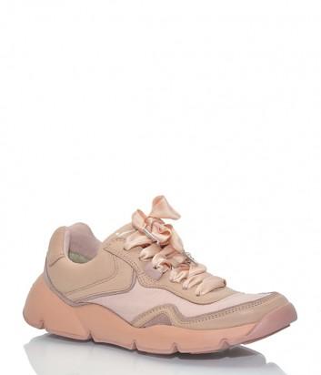 Женские кроссовки Voile Blanche 012426 нежно-розовые