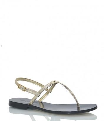 Кожаные сандалии Paola Fiorenza Nodino золотые