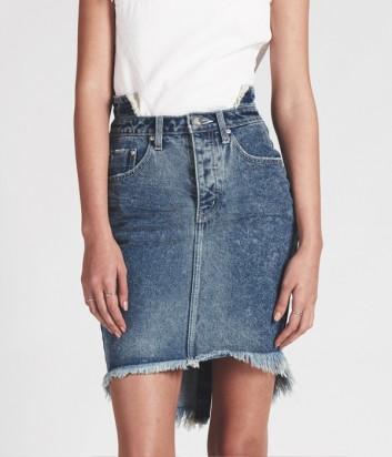Джинсовая юбка One Teaspoon BLUE SOCIETY 2020 синяя