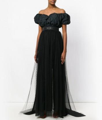 Черное платье-трансформер MSGM со съемной фатиновой юбкой