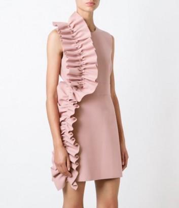 Нежно-розовое платье MSGM с крупными воланами